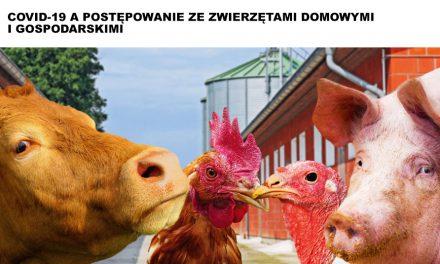 COVID-19 apostępowanie zezwierzętami domowymi igospodarskimi